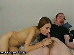 Blowjob, Masturbation, Old and Young, POV, Russian