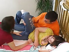 Amateur, Cunnilingus, MILF, Old and Young, Threesome