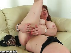British, Hairy, Mature, MILF, Stockings
