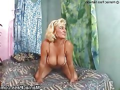 Blonde, Facial, Granny, Hardcore, Mature