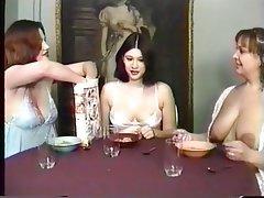 Lesbian, Threesome, Brunette, Foot Fetish