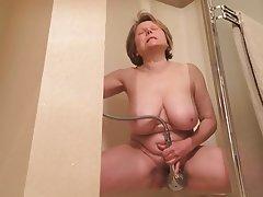 Masturbation, Mature, MILF, Orgasm, Shower
