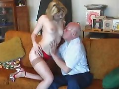 Blonde, Cumshot, Hardcore, Old and Young, Stockings