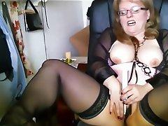 BBW, Big Boobs, German, Masturbation