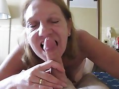 Blowjob, Mature, POV, Granny, Wife
