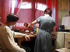 Granny, Mature, Russian, Kitchen