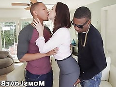 Blowjob, Interracial, MILF, Threesome