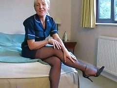 Amateur, British, Mature, Stockings