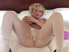 Blonde, Foot Fetish, Mature, Pantyhose