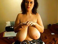 Big Boobs, Brunette, MILF, Webcam
