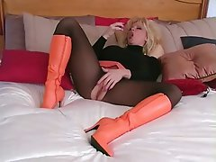 Blonde, Mature, Mature, Pantyhose