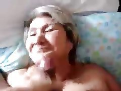 Amateur, Blowjob, Close Up, Cumshot, Granny