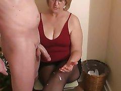Granny, Handjob, Mature
