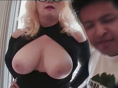 Granny, Interracial, Mature, Threesome